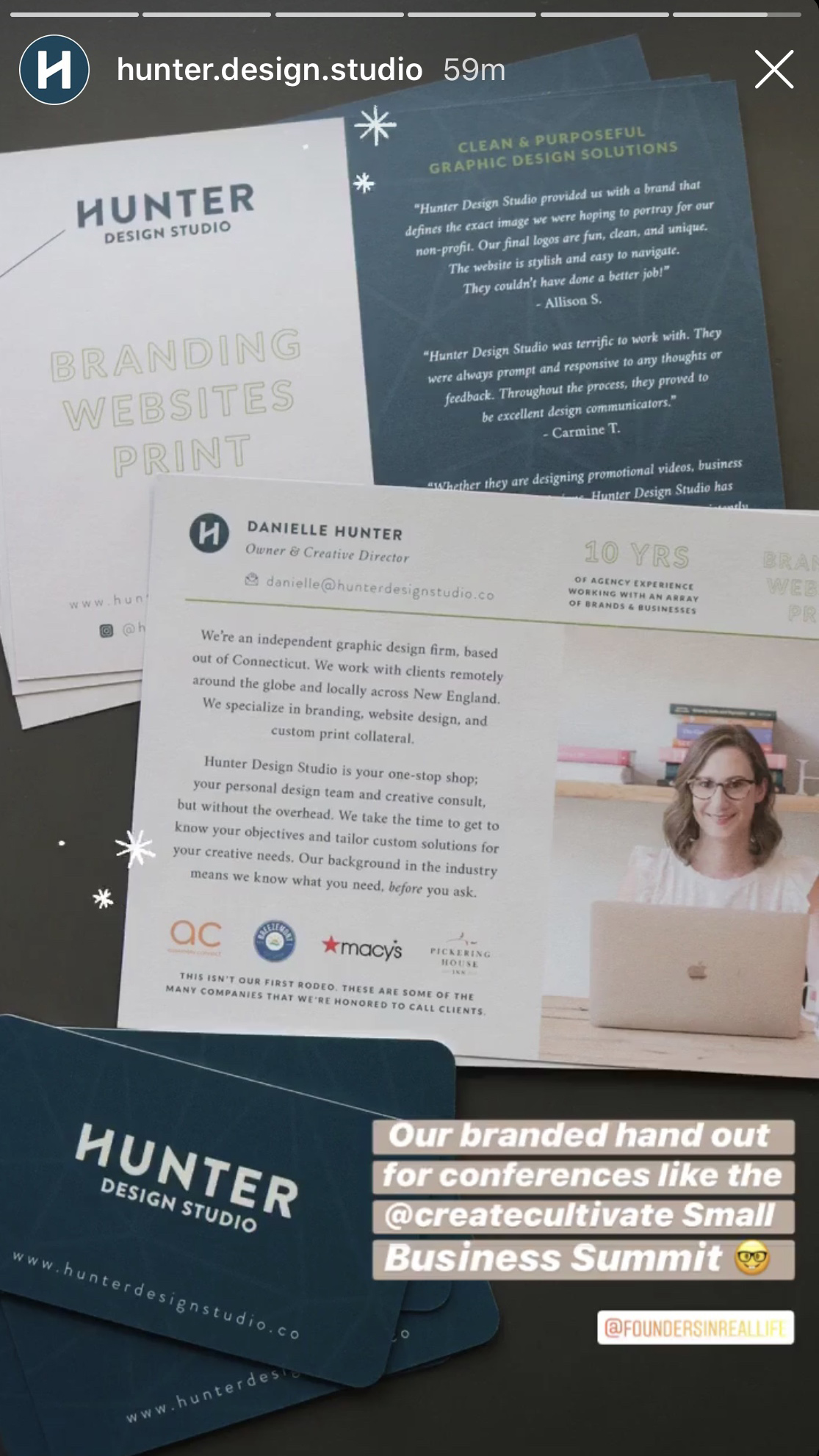 printed marketing materials using brand photography shot by jamie bannon photography.