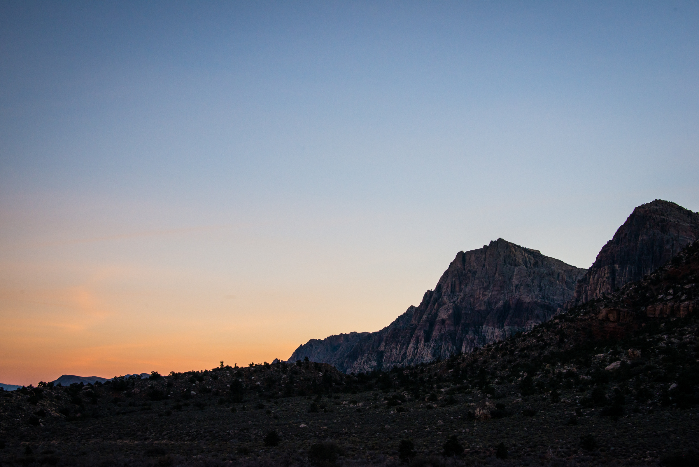 sunset at red rock canyon, nevada, photographed by jamie bannon photography.