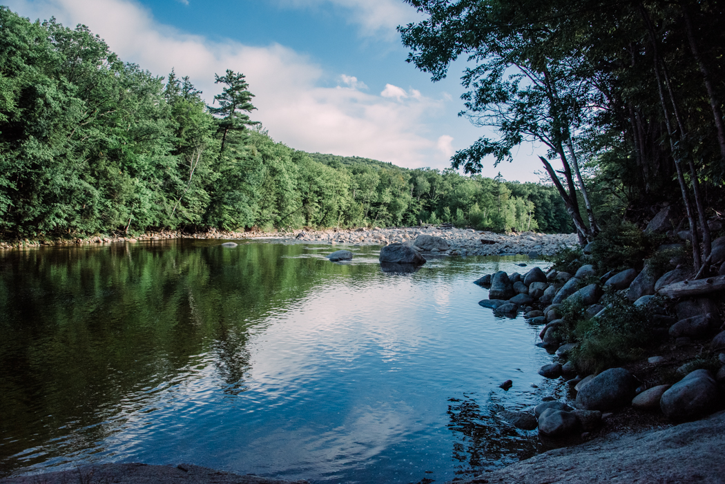 the pemigewasset river in the white mountains, new hampshire, photographed by jamie bannon photography.